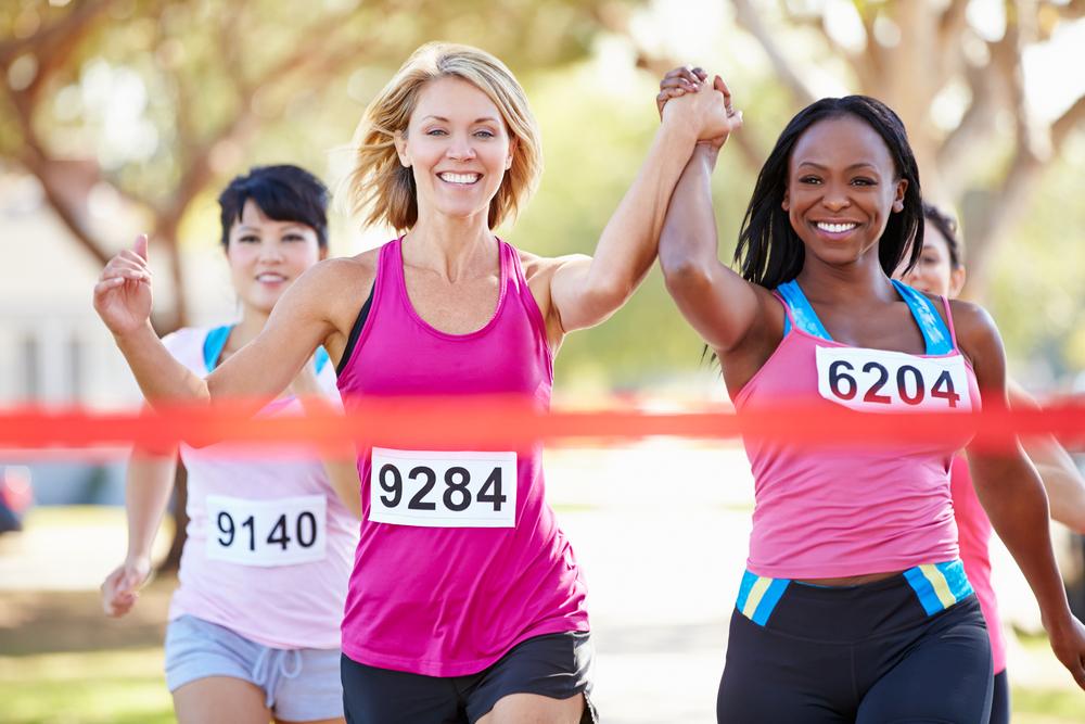 Marathon Runners Finish