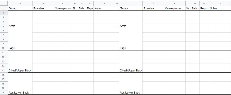 workoutlogspreadsheet