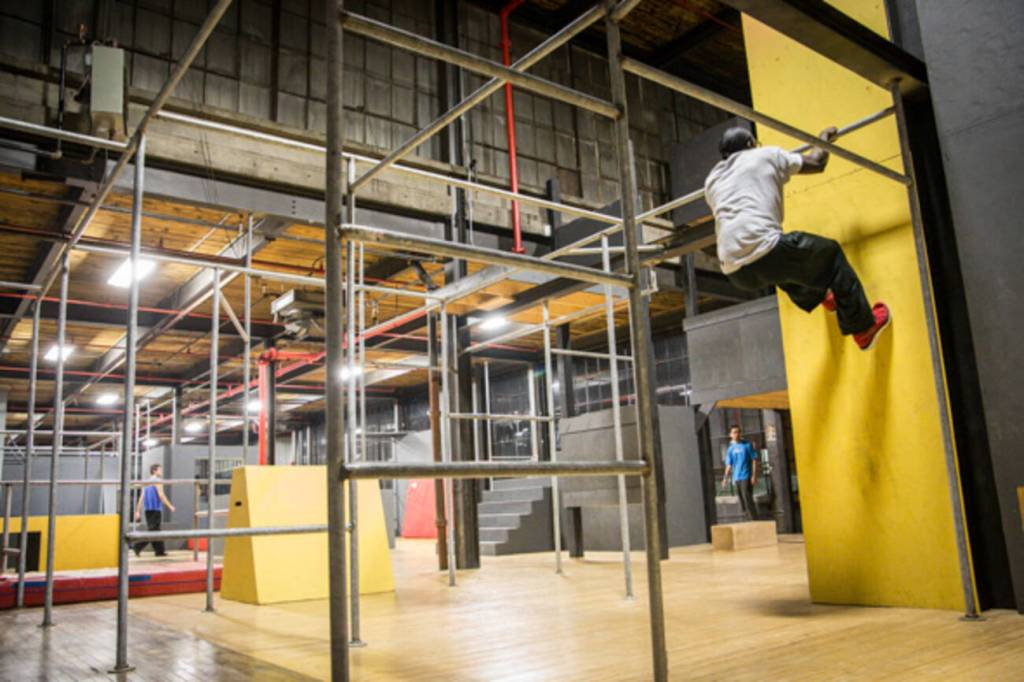 indoor parkour training course