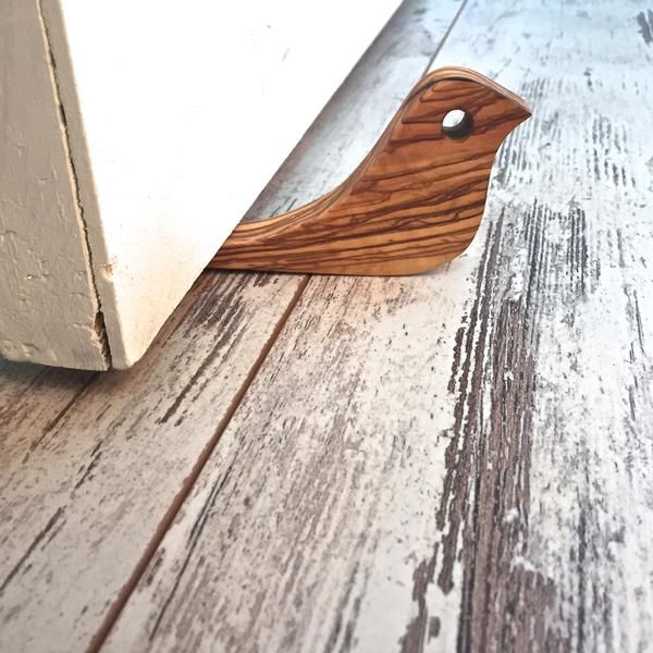 Hand Carved Wooden Doorstop