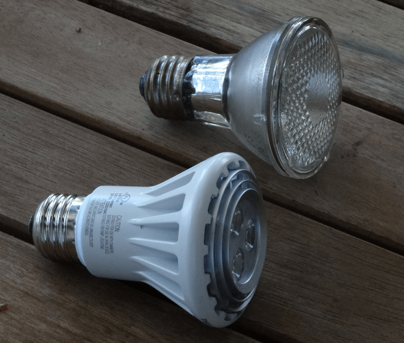 replacing halogen recessed lights with