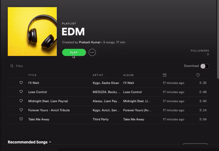 How to change spotify playlist picture within 50 Seconds