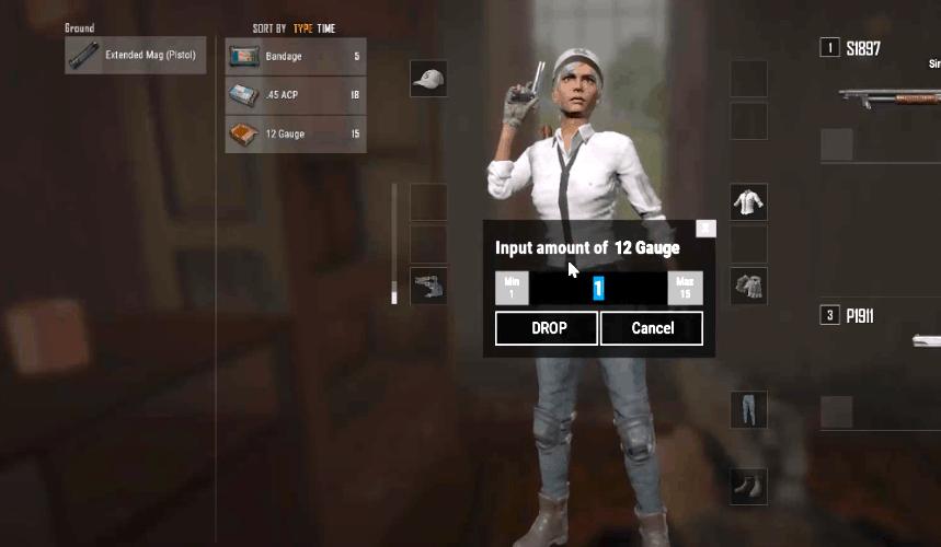 pubg how to split ammo