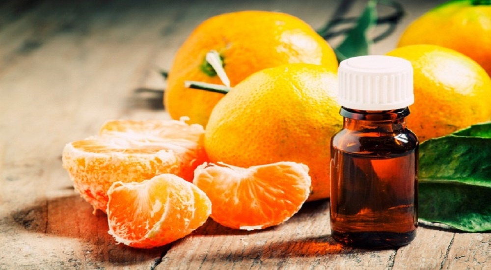 Orange oil for a glowing face