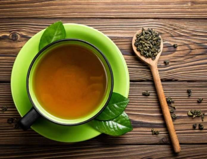 get rid of body fat with green tea