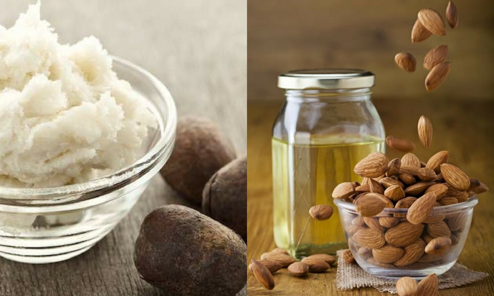 get rid of stretch marks on butt using Shea Butter and Almond Oil