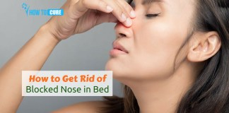 how to get rid of a blocked nose in bed