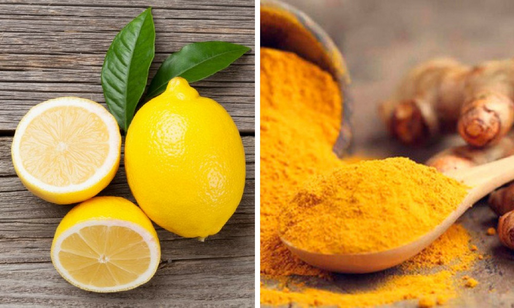 lemon juice and turmeric for white marks on teeth