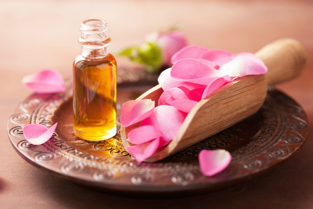 rose oil for hot flashes