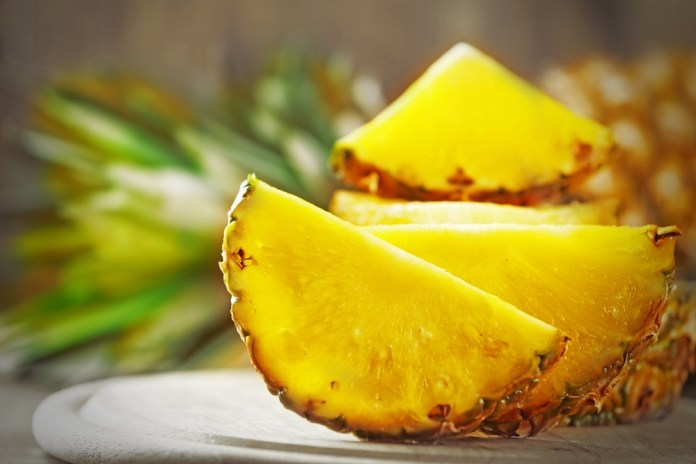 fresh and juicy pineapples