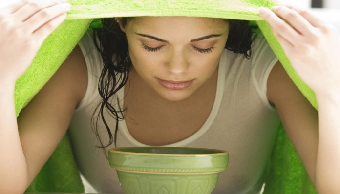 green tea and steam therapy work amazingly for whiteheads cure