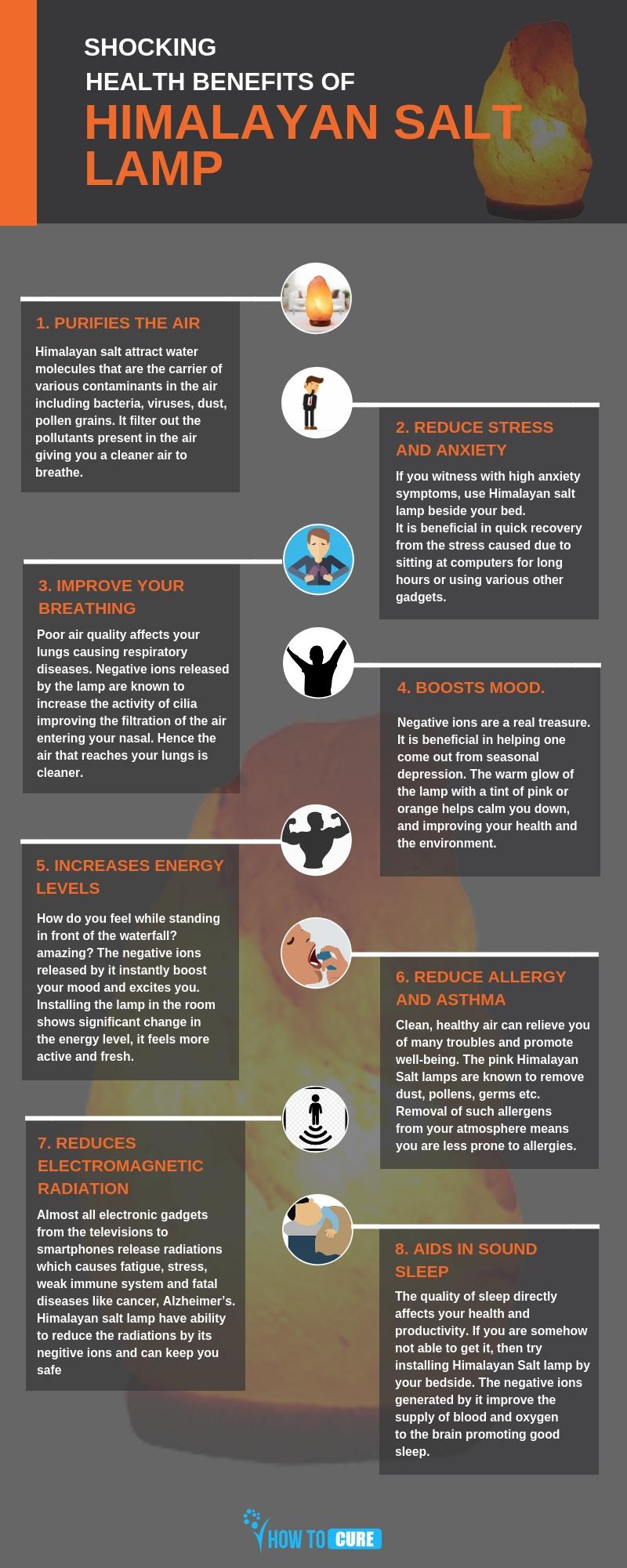 himalayan salt lamp benefits - infographic