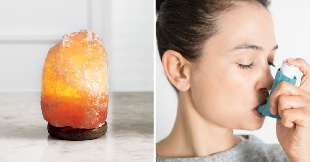 himalayan salt lamp for reduce allergy and asthma