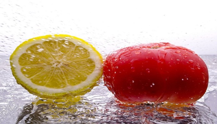 tomato and lemon for scar