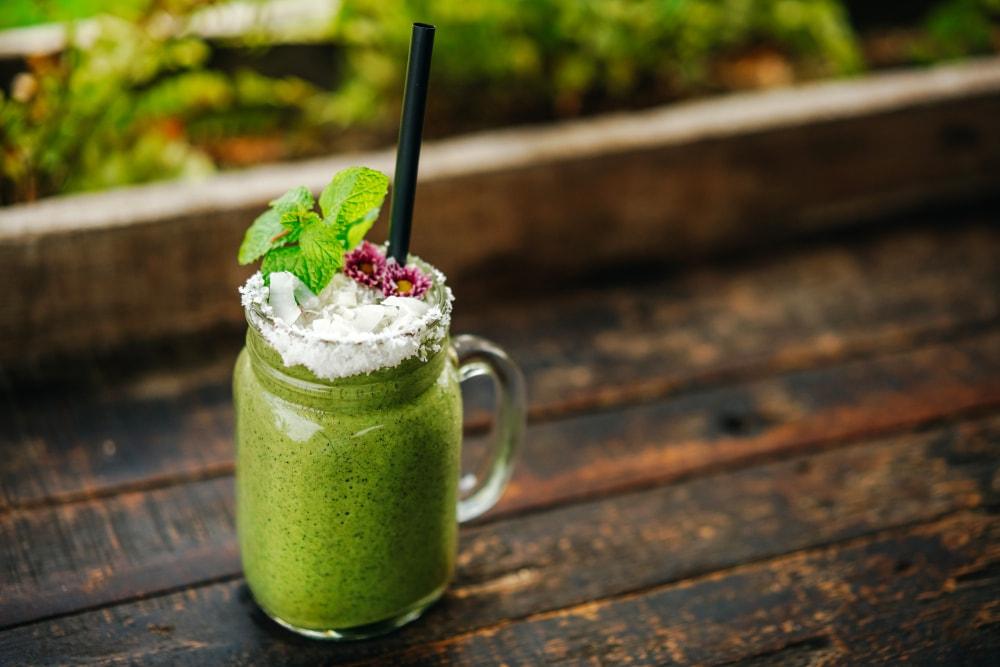 Creamy moringa smoothie-min
