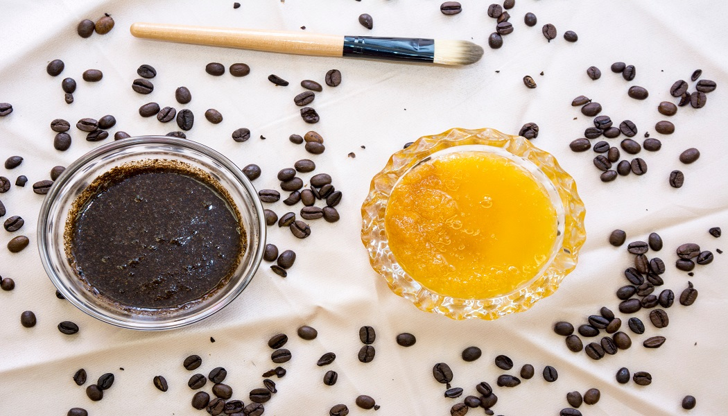 coffee and honey scrub for remove ingrown hair