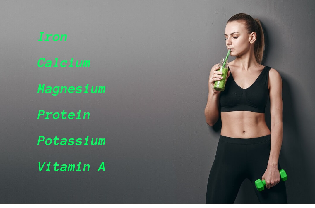 spinach juice nutrition facts