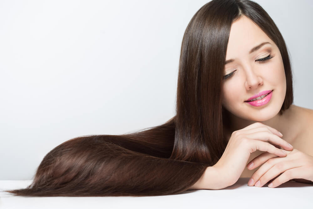 Healthy and lustrous hair with ginger