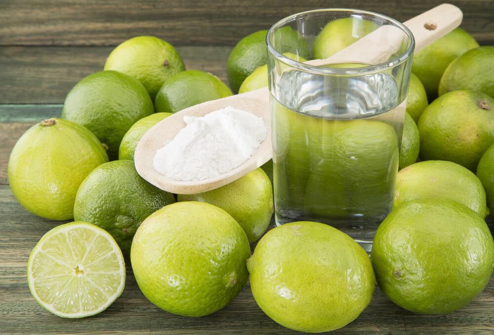 lemon juice with baking soda