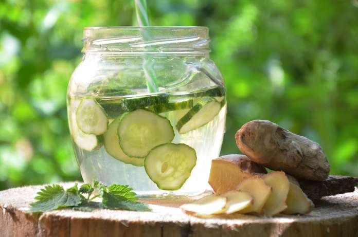 Ginger and cucumber for hair.