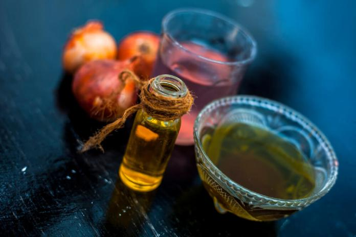 Olive oil and onion juice for hair