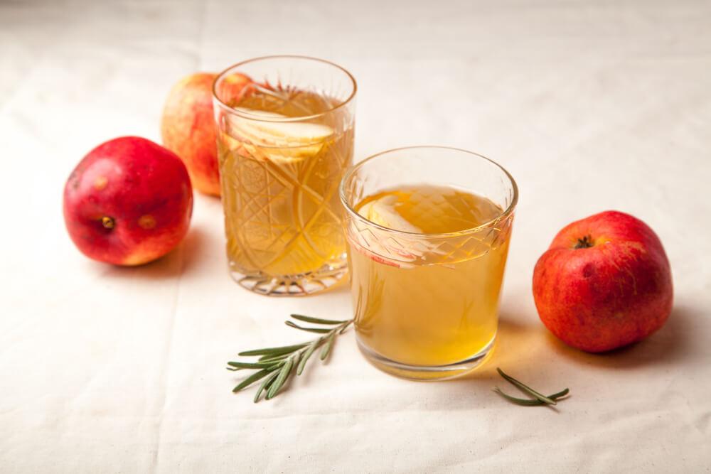frozen cube of apple cider vinegar
