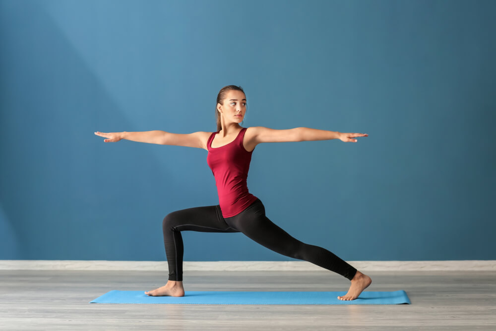 Crescent Lunge Twist pose for Sciatica