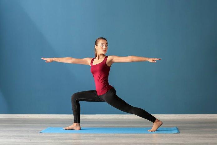 Crescent Lunge Twist pose for Sciatica