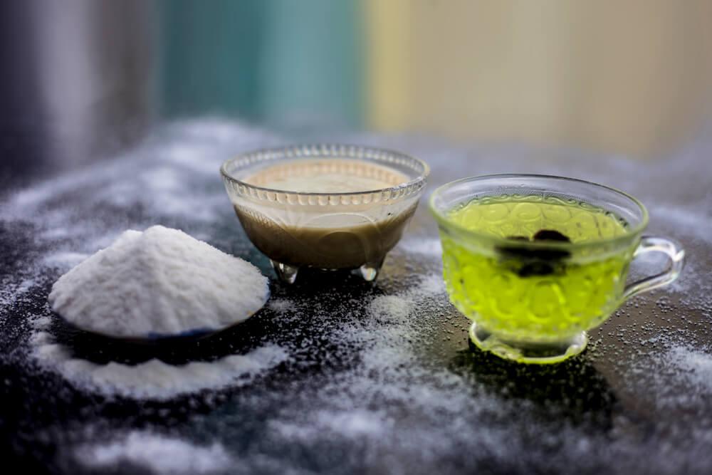 Green Tea and Rice Flour