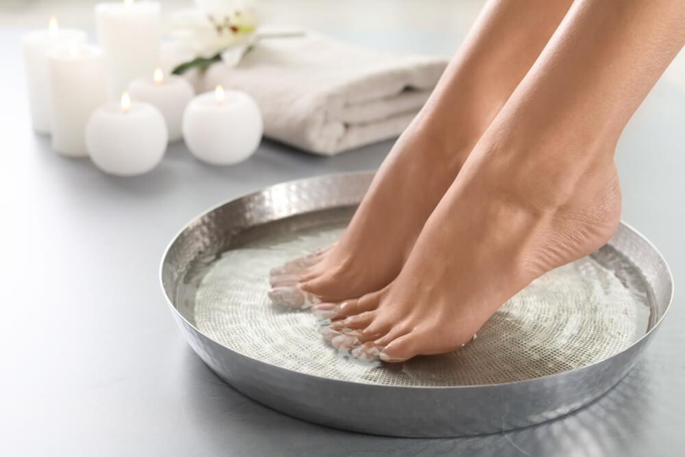 feet Soaking in Water