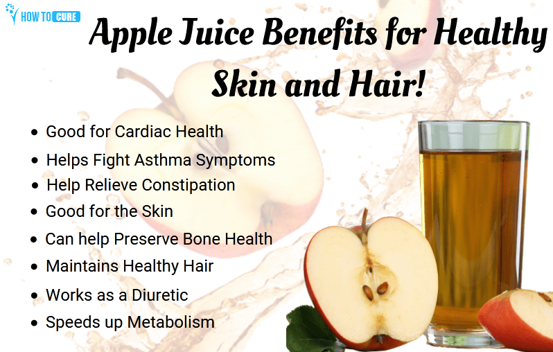apple juice benefits for hair and skin