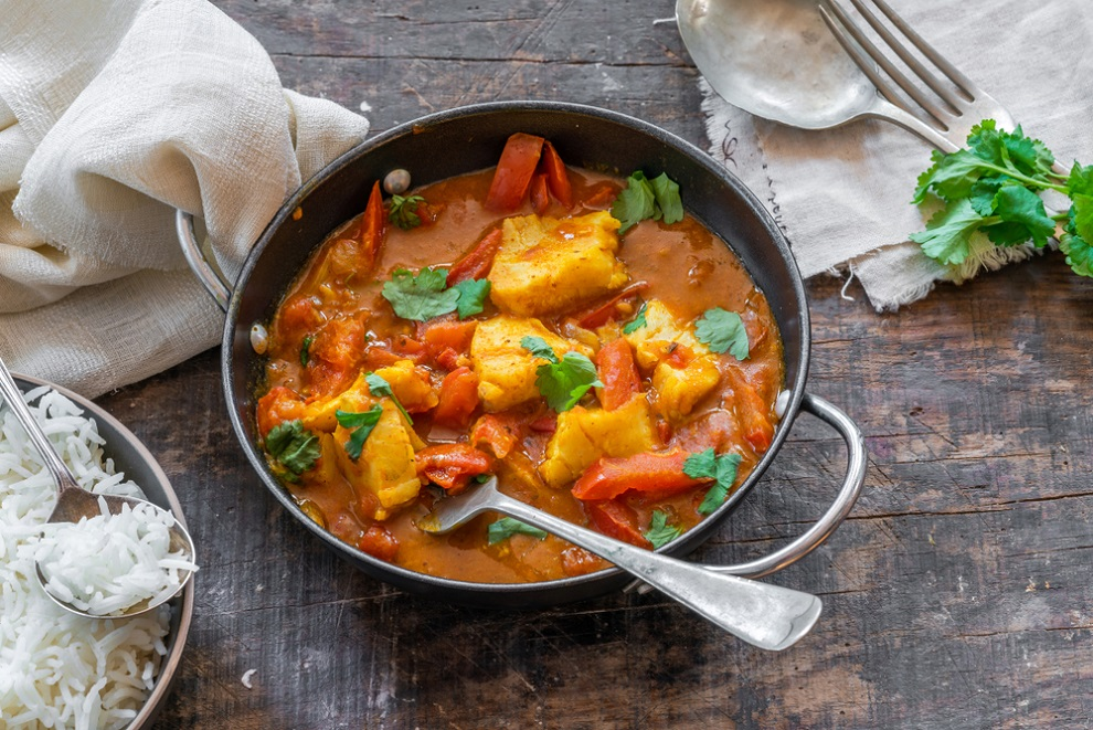 curried cod
