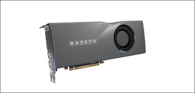 A Radeon graphics card.