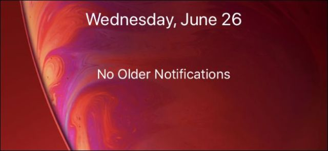iPhone lock screen without older notifications
