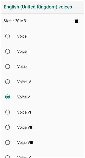 In your language menu, choose your genre voice