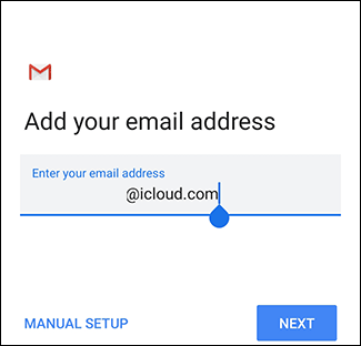 The login screen to Gmail.
