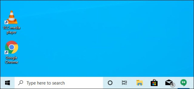 Cortana and the search bar separated in the taskbar