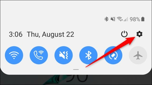 Notification Shadow Settings Icon of Samsung Galaxy Note 10 Plus