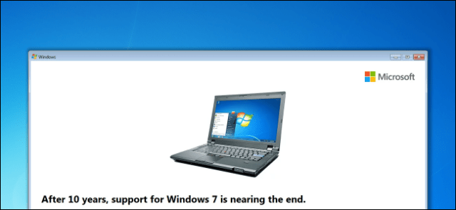 Windows 7 supports end date reminder message on desktop