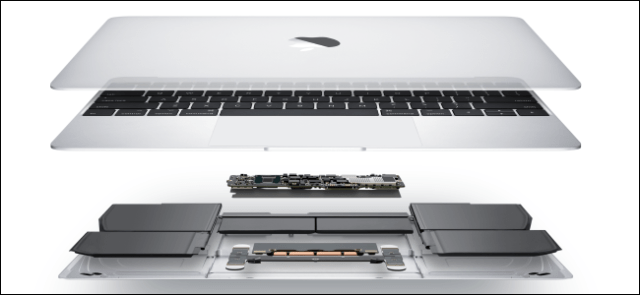 Inside a MacBook