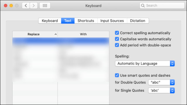 Disable Autocorrenct in macOS