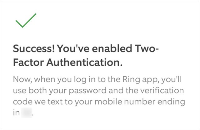 Ring App Click the Continue button to exit the configuration process