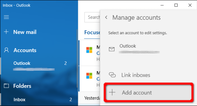 Windows Mail Application Add Account