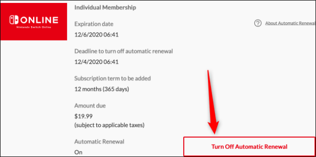 Disable automatic renewal (Web)