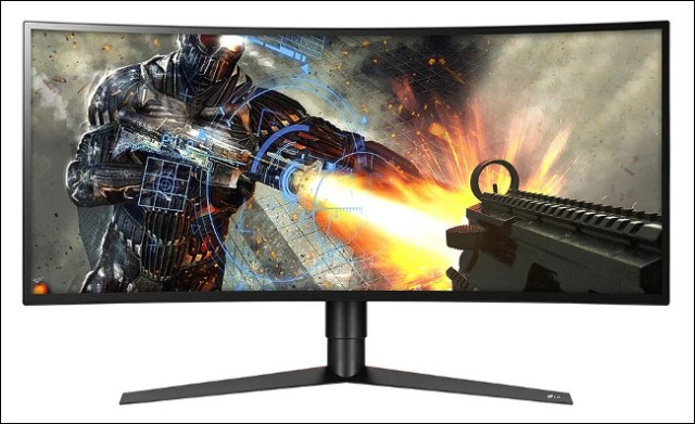 A game played on an LG 34GK950F-B monitor with an IPS panel.