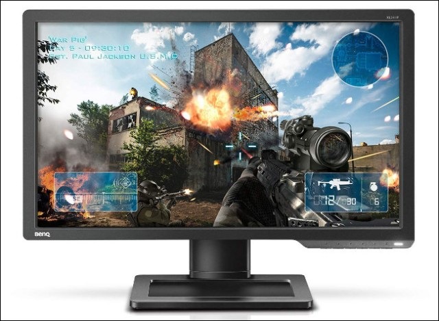 A BenQ XL2411P monitor with a TN panel.