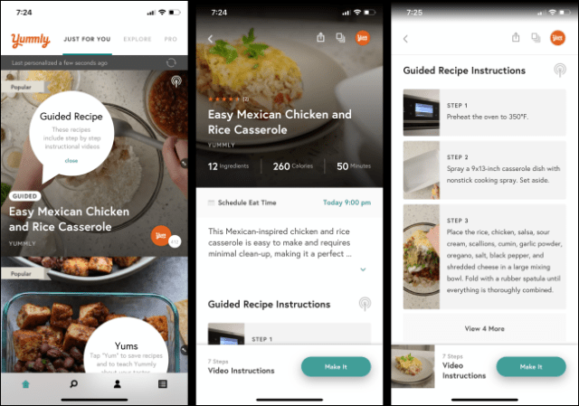 The Yummly app on a smartphone.