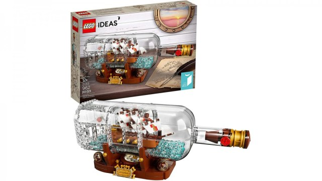 LEGO ideas are shipped in a bottle