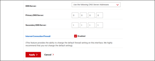router DN settings