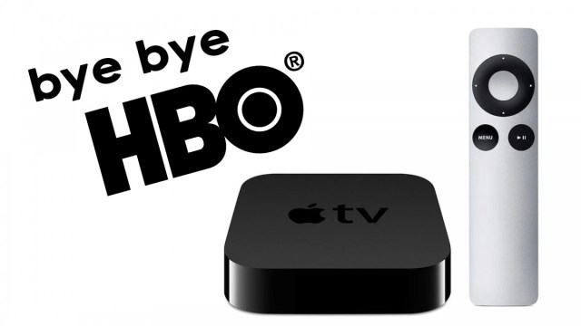 An illustration of HBO leaving old Apple TV
